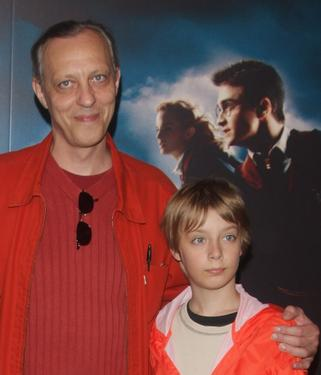 Tom Novembre and Oscar Novembre at the premiere of &quot;Harry Potter and the order of the phoenix.&quot;